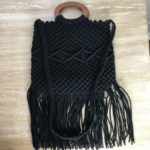Rachel Zoe Box of Style Black fringe purse
